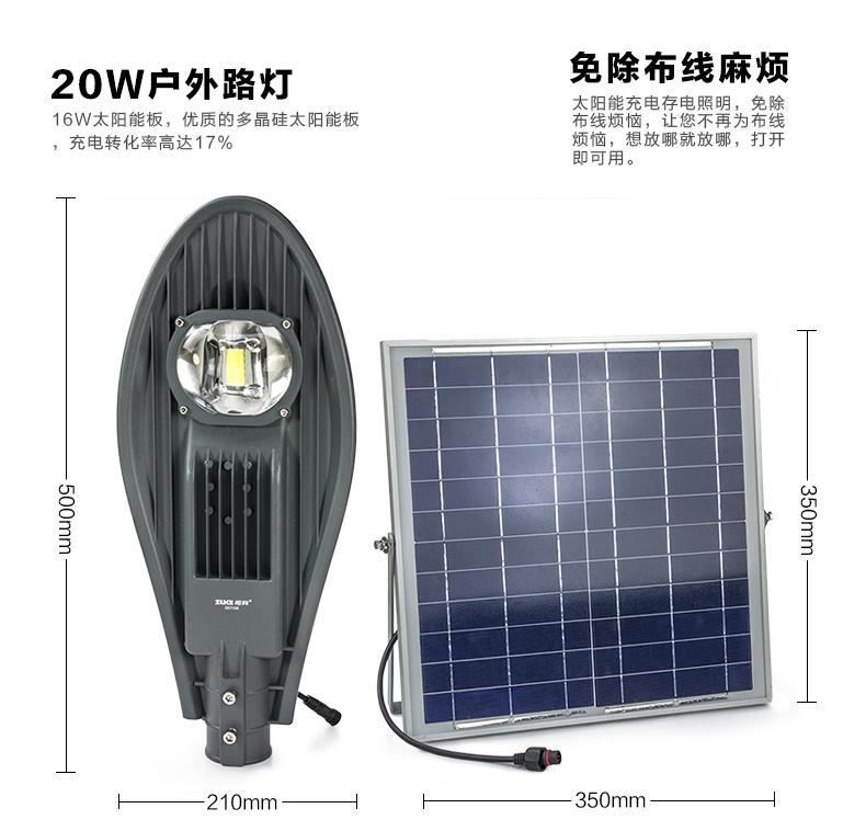 太陽能挑壁燈產品圖片