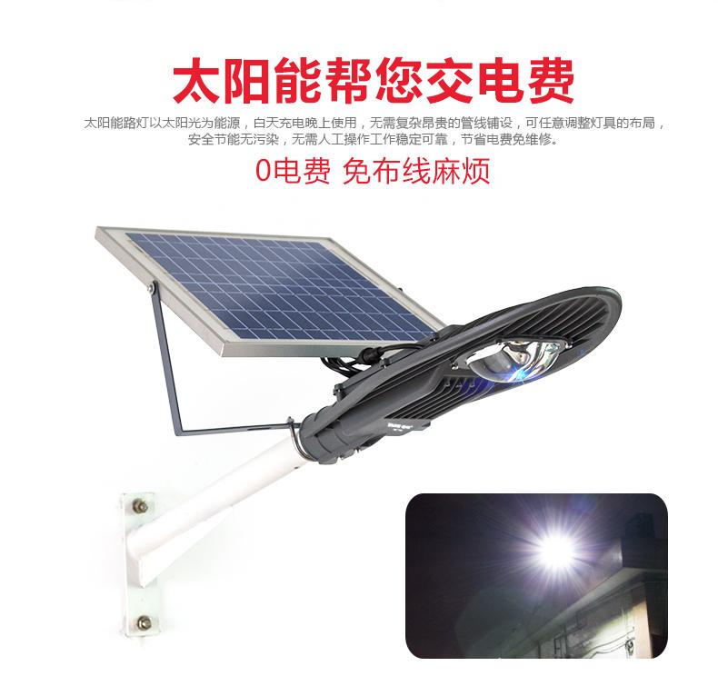太陽能挑壁燈-寶劍燈頭