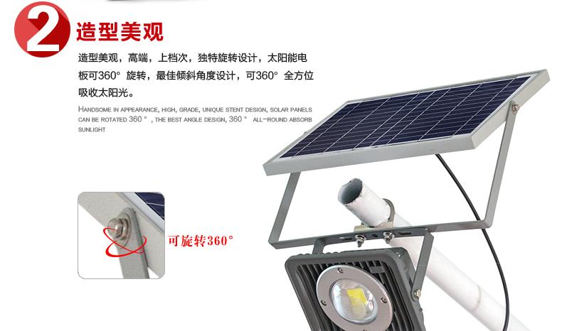 太陽能投光燈造型